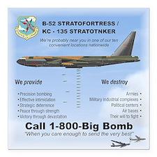 "B-52 Stratofortress Sac Square Car Magnet 3"""