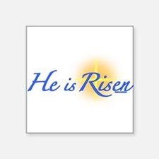"Cute Palm sunday Square Sticker 3"" x 3"""