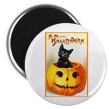 Jackolantern Black Cat Magnet