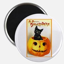 Jackolantern Black Cat Magnet