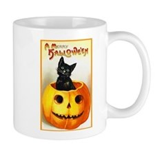 Jackolantern Black Cat Small Mugs
