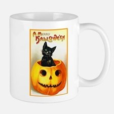 Jackolantern Black Cat Small Mugs