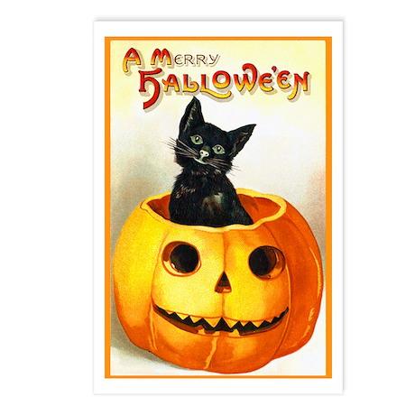 Jackolantern Black Cat Postcards (Package of 8)