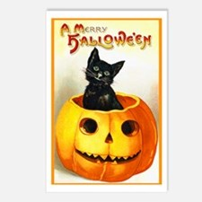 Jackolantern Black Cat Postcards (Package of 8)