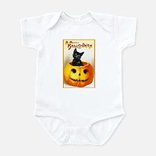 Jackolantern Black Cat Infant Bodysuit