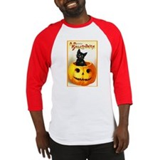 Jackolantern Black Cat Baseball Jersey