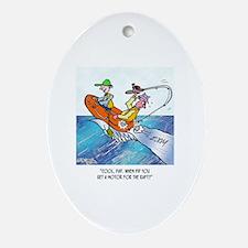 Fishing Cartoon 2716 Oval Ornament