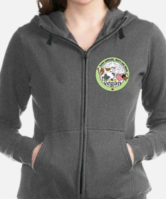 Love Animals Dont Eat Them Vega Women's Zip Hoodie