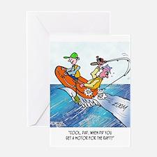 Fishing Cartoon 2716 Greeting Card