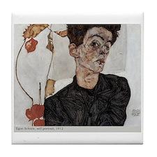 Egon Schiele Tile Coaster