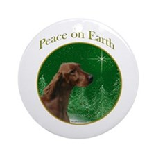 Irish Setter Peace Ornament (Round)