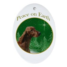 Irish Setter Peace Oval Ornament