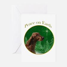 Irish Setter Peace Greeting Cards (Pk of 10)