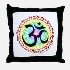 Om Aum Spectrum Throw Pillow