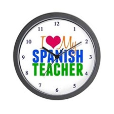 Spanish Teacher Wall Clock