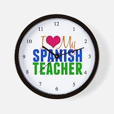 Spanish Teacher Wall Clock
