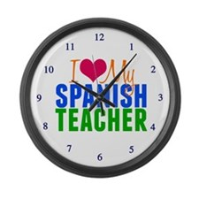 Spanish Teacher Large Wall Clock