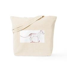 Thylacinus Cynocephalus Red Sepia Tote Bag
