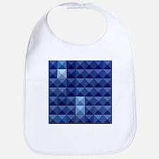 Cobalt Blue Abstract Low Polygon Background Bib