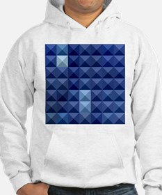 Cobalt Blue Abstract Low Polygon Background Hoodie