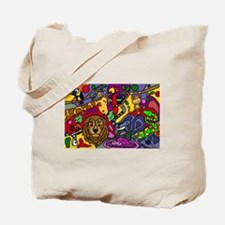 Funny Jungle Abstract Art Tote Bag