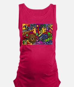 Funny Jungle Abstract Art Maternity Tank Top