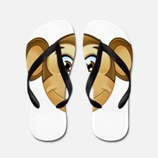 monkey emoji Flip Flops