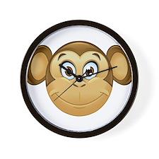 monkey emoji Wall Clock