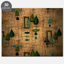 Atomic Age in Gold Puzzle