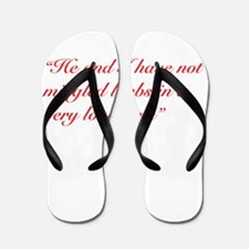 A Chloe Quote Flip Flops
