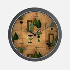Atomic Age in Gold Wall Clock