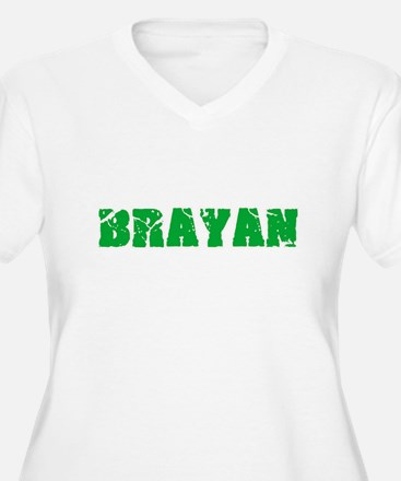 Brayan Name Weathered Green Desi Plus Size T-Shirt