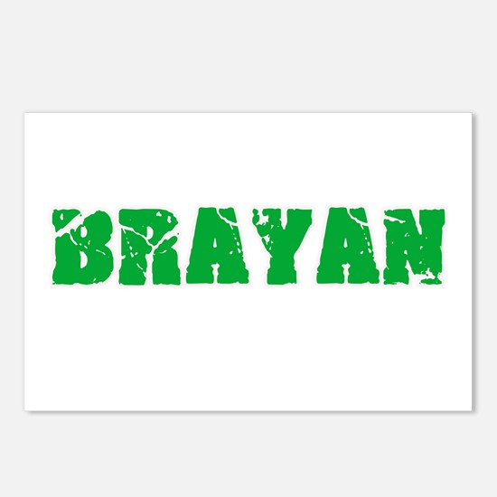Brayan Name Weathered Gre Postcards (Package of 8)