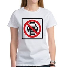 Do Not Stop On Tracks 2 Sign Tee