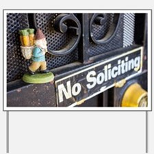 No Soliciting Gnome Yard Sign