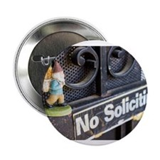 "No Soliciting Gnome 2.25"" Button (10 pack)"