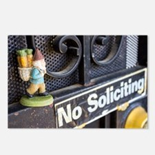 No Soliciting Gnome Postcards (Package of 8)