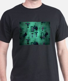 Atomic Age in Teal. T-Shirt