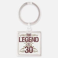 Men's Funny 30th Birthday Square Keychain
