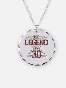 Men's Funny 30th Birthday Necklace