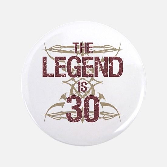 Men's Funny 30th Birthday Button