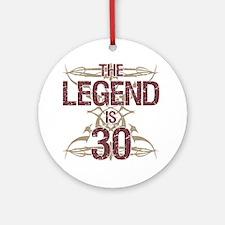 Men's Funny 30th Birthday Round Ornament