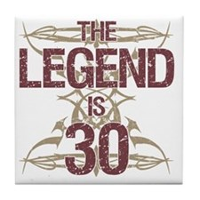 Men's Funny 30th Birthday Tile Coaster