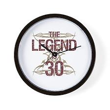 Men's Funny 30th Birthday Wall Clock