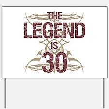 Men's Funny 30th Birthday Yard Sign