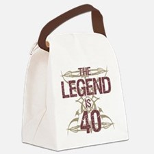 Men's Funny 40th Birthday Canvas Lunch Bag