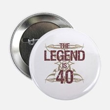 "Men's Funny 40th Birthday 2.25"" Button"
