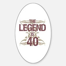 Men's Funny 40th Birthday Decal