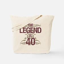 Men's Funny 40th Birthday Tote Bag