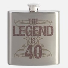Men's Funny 40th Birthday Flask
